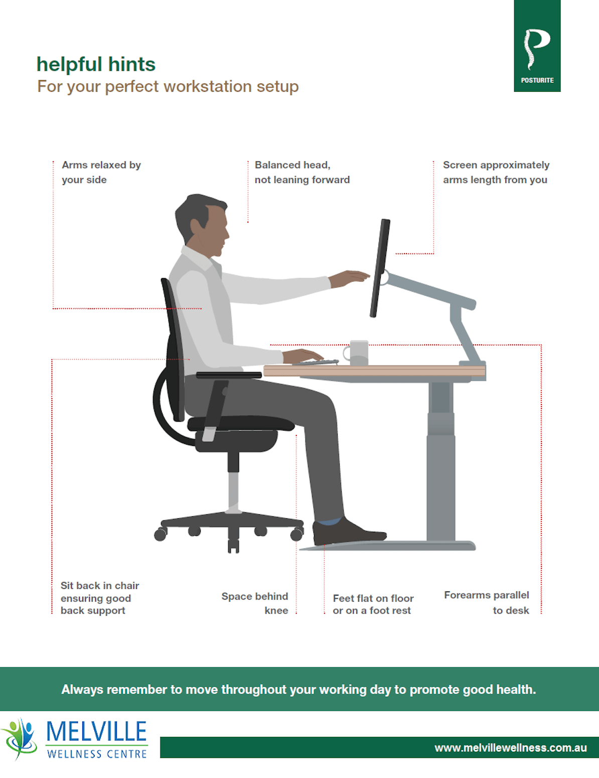 How To Setup Your Office Chair And Prevent Injury Chiropractor Perth Friendly Affordable Melville Wellness Centre